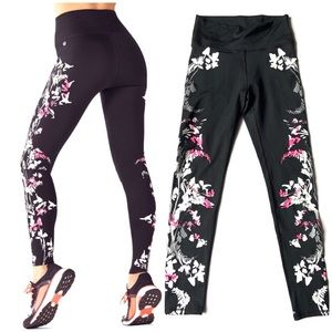 { Fabletics } Floral Pop Coral Pretty Punk Legging